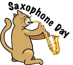All about Saxophone Day and clip art for this special occasion. Sax Man, Saxophone, Clip Art, Learning, Celebrities, Music, November, Cats, Happy