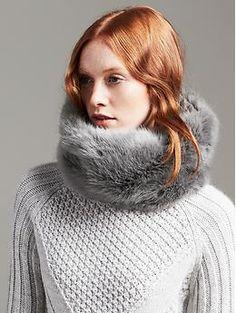 Faux-Fur Neck Warmer silverfox gray