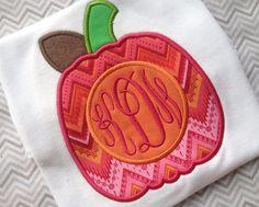 Monogram Pumpkin Shirt by kissedwithcreativity on Etsy, $25.00
