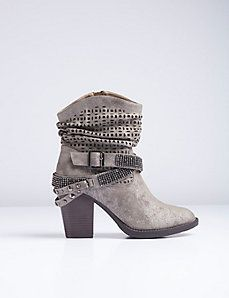 Western Bling Ankle Boot