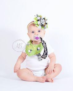 Embroidered Baby Bib Raccoon Bandana Bib Baby Shower by KenaBows