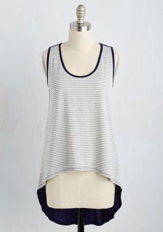 It Was Mirth the Drive Top in Dusk. Reach the zenith of your road trip feeling as elated ever with the help of this striped tank top! #multi #modcloth