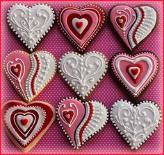 Valentine Cookies 2013 | Flickr - Photo Sharing! Repinned By:#TheCookieCutterCompany