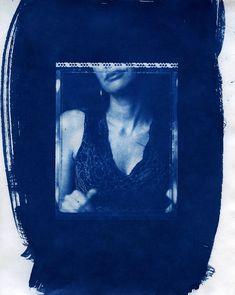 Cyanotype from Polaroid Type 55PN negative