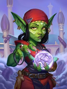 Artwork for brawl hs challenge hearthstone blizzard drawing art digitalart painting illustration cg cgart cgartist goblin warcraft Game Character Design, Fantasy Character Design, Character Concept, Character Inspiration, Character Art, Character Reference, Character Portraits, Dungeons And Dragons Characters, Dnd Characters