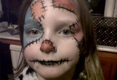 Patchwork Facepaint #patchwork #doll #facepaint #party