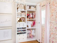 Ali Fedotowsky - baby girl nursery featuring silk roses