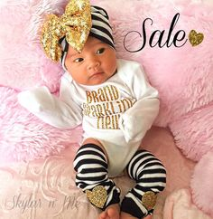 Newborn Girl Take Home Outfit Baby Girl outfit Baby by SkylarnMe