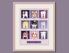 Dog nursery print 11x14 art for baby Personalized puppy by Wallfry, $25.00
