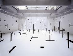 Esther Stocker's Geometric installation