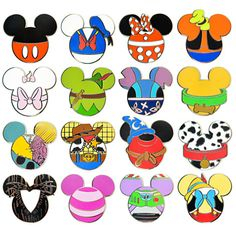 Mickey Mouse Icon Mystery Pin Set - 5-Pc | Pins (Individual) | Disney Store