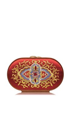 Shop Russian Church Painting Embroidered Oval Bag In Strawberry Red. This clutch by **Katrin Langer** features a Russian church painting design and is embroidered on an oval body and finished with a wooden frame. Russian Fashion, Russian Style, Bags 2015, All About Fashion, Playing Dress Up, Purses And Handbags, Fashion Bags, Strawberry, My Style
