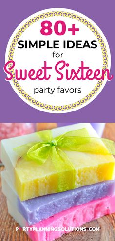 "Party favors are a nice way to surprise guests with a token of appreciation for joining your Sweet 16 celebration ✔ Your guests will surely appreciate the gesture! Say ""thank you for celebrating with us"" with these awesome ideas for Sweet 16 Party Favors! #partyfavors #sweet16partyideas #sweetsixteenpartyideas #partyideas #partyplanning"
