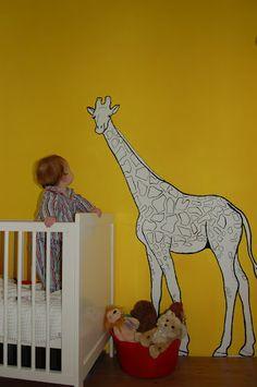 Mural painting for kids room (more like for CHLOÉ!) (: