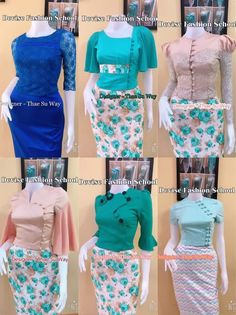 Traditional Dresses Designs, Traditional Fashion, Traditional Outfits, Dress Neck Designs, Blouse Designs, Myanmar Dress Design, Myanmar Traditional Dress, Churidar Designs, Thai Dress