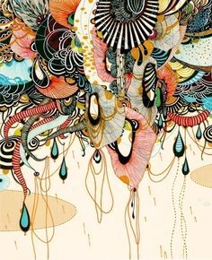 art inspir, artists, graphic, doodles and illustration, inspiration, pattern, colors, black white, paint
