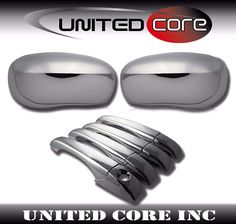 For 2005-2010 Chrysler 300C Charger Chrome Mirror Covers for PAINTED Mirrors