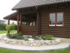 Realizacja projektu Konwalia bal. Pełna prezentacja projektu znajduje się na stronie: http://www.domywstylu.pl/projekt-domu-konwalia_bal.php.  #realizacje, #domy z bala, #domywstylu, #mtmstyl, #konwalia