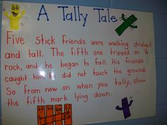tally mark poem great for FIRST Grade MATH.