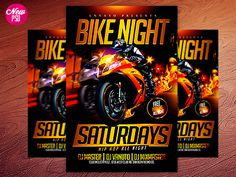 Motorcycle PSD Flyer by Industrykidz