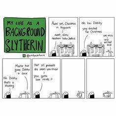 Harry Potter comic background Slytherin Dobby
