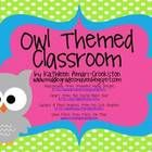 """Click+""""download+preview""""+to+see+MOST+of+the+files+listed+below!  *If+you+like+this+set,+see+my+""""Owl+Themed+Word+Wall""""!  Includes+TONS+of+owl+th..."""