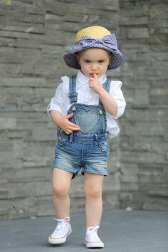 Denim, Playsuit, Converse, Summer Hat, Spring Style, Kids fashion, Kids Trends, Mini Fashionista x