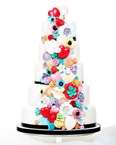 Quirky Love Wedding Cake