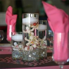 Small cylinder vases