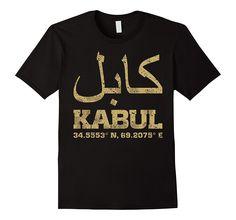 Kabul Afghanistan coordinates T-Shirt