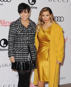 Pin for Later: 90+ Stars Being Sweet With Their Moms Kim Kardashian Kim Kardashian and her mom, Kris Jenner, attended the Hollywood Reporter's Women in Entertainment event in December 2013.