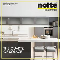 The Glass Tec Satin kitchen flaunts the Quartz Grey when it comes to the cabinet front, worktop and carcass. #cabinets #Home #Nolte #ModularKitchen #Kitchens #HomeStudioIndia #NolteHomeStudio #designs #KitchensIndia #India #Architects #Decor #interiors #KitchenDesigns #furniture #people #noltehomestudioindia Visit: www.noltehomestudio.in/kitchens