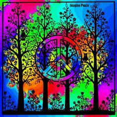 Hippie Peace, Hippie Art, Hippie Chick, Peace Love Happiness, Peace And Love, Peace Sign Art, Peace Signs, Feelin Groovy, Tree Of Life Art