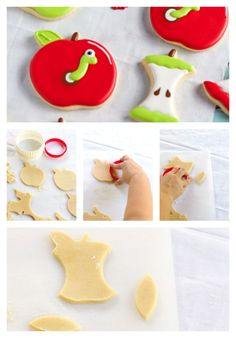 How to Make Apple with Worm Cookies by thebearfootbaker.com