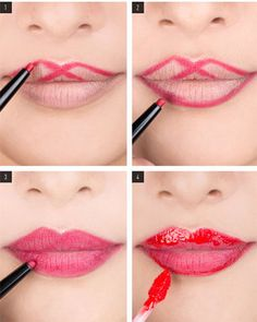 New how to wear red lipstick tips dark lips Ideas Red Lipstick Tips, How To Apply Lipstick, Red Lipsticks, Dark Lipstick, Makeup Kit, Lip Makeup, Makeup Hacks, Perfect Red Lips, Lipstick Tutorial