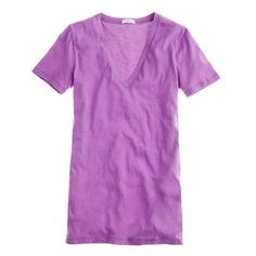 It's purple, what else can I say?  New colors for Spring in J.Crew's V-neck collection.  I have a tendancy to buy in more than one color...