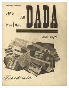 'Der Dada No.2' 1919 (magazine cover) - Edited by Raoul Hausmann, John Heartfield, and George Grosz.