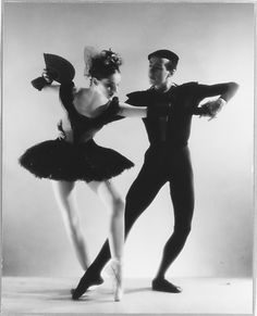 """Tanaquil Le Clercq and Jerome Robbins in """"Bourée Fantastique""""  George Platt Lynes"""