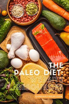 Paleo Diets have become popular within the fitness community to help hit weight loss goals. Check out our ultimate list of paleo sites to keep you on track - QandA Fitness - #fitness #paleo #diet #PaleoDiet Paleo Nutrition, Paleo Diet, Paleo Meals, Paleo Recipes, Everyday Paleo, Paleo Plan, Nom Nom Paleo, High Protein Recipes, How To Eat Paleo