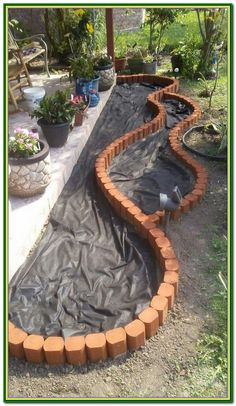 Diy garden decor - 52 beautiful garden ideas to make your home front yard awesome 26 – Diy garden decor Backyard Patio, Backyard Landscaping, Landscaping Ideas For Backyard, Landscaping Borders, Nice Backyard, Pavers Patio, Patio Stone, Natural Landscaping, Backyard Garden Landscape
