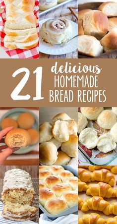 21 delicious bread recipes to celebrate National Homemade Bread Day that you won't want to miss!