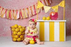 Pink Lemonade garland #fabricgarland #garland #banner #bunting #newbornphotography #babyphotography #childphotography #babyprops #photoprop #photoprops #newbornprops #cakesmash #firstbirthday #1stbirthday #birthdaybanner #partydecor #partyplanner #handmade #pinklemonade