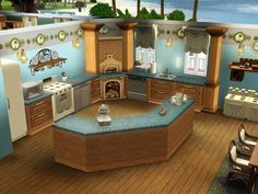 sims 4 quirky house sims 4 house how to Sims 4 House Plans, Sims 4 House Building, Sims 3 Houses Ideas, Sims Ideas, Sims 4 Houses Layout, Sims 4 Kitchen, Kitchen Modern, Kitchen Ideas, Kitchen Design