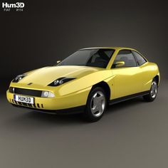 Fiat Coupe Pininfarina 1998 3d model from Hum3d.com.