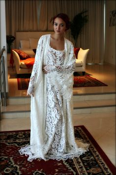Hey, I found this really awesome Etsy listing at https://www.etsy.com/listing/261788601/embroidered-lace-bridal-robe-wedding