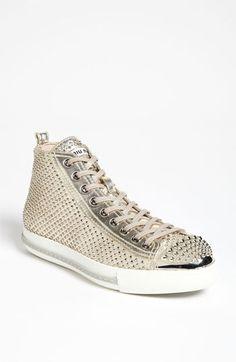 Miu Miu Metal Toe High Top Sneaker available at #Nordstrom
