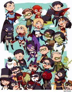 DC Comics chibi art by morfeo11