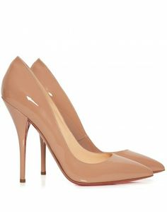 Batignolle 120 nude patent leather shoes - Christian Louboutin from Cricket Fashion Boutique UK