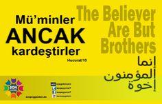 Mü'minler ancak kardeştirler  Hucurat_10  The believers are but brothers   إنما المؤمنون إخوة
