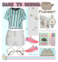 """#PVxPusheen: 16/08/16"" by pinky-chocolatte ❤ liked on Polyvore featuring SI-JAY, Pusheen, Jane Norman, Oris, Monday and Under Armour"